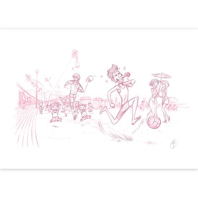 Original Cover Art -  Louca - Journal de Spirou No. 4029-4030