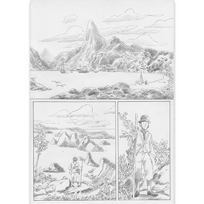 Planche originale Aux origines de Darwin pl 57