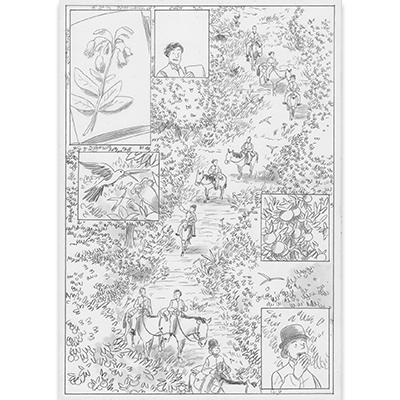 Planche originale Aux origines de Darwin pl 129