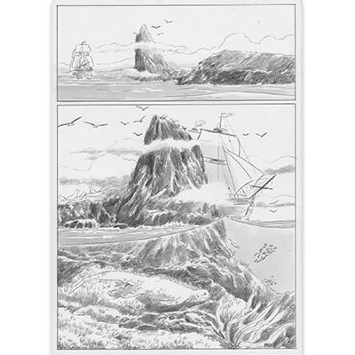 Planche originale Aux origines de Darwin pl 137