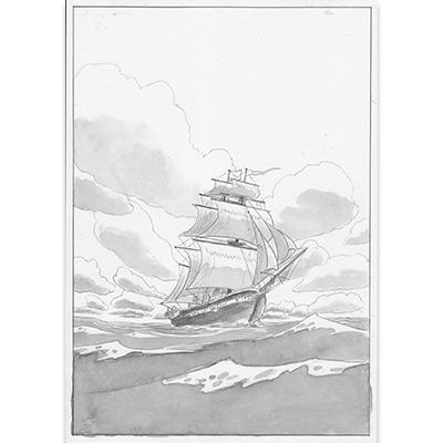 Planche originale Aux origines de Darwin pl 148