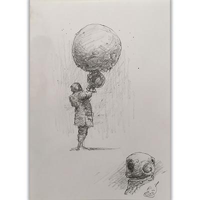 Illustration originale Tremen Astronaut