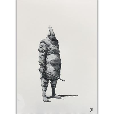 Illustration originale Tremen GuardGouache