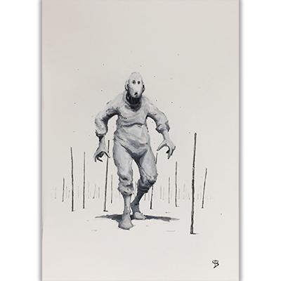 Illustration originale Tremen Hobot Gouache