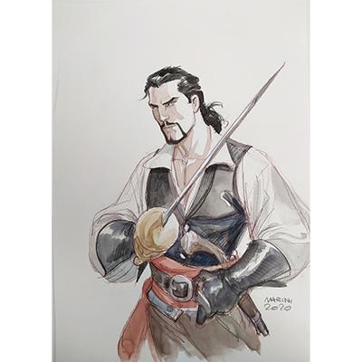 Illustration originale Scorpion par Marini
