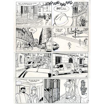 Planche originale Jerome K Jerome Bloche tome 20, Planche 44