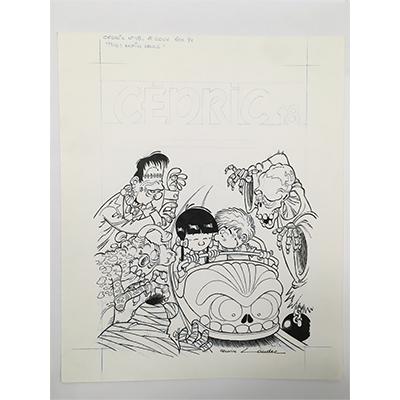 Illustration originale Cedric tome 18   Enfin seuls !  Couverture