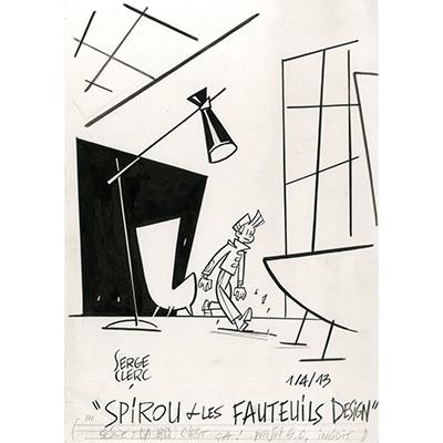 Illustration Spirou et les fauteuils design