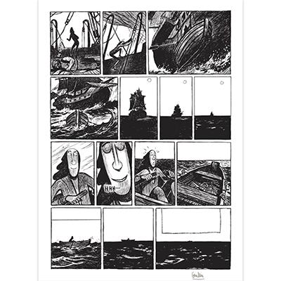 Planche originale Robinson Crusoé Tome 1, planche 29