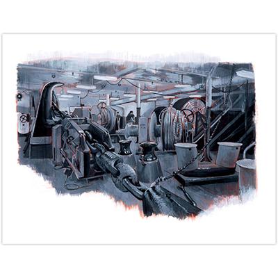 Illustration originale Titwane - Le Charles de Gaulle - Fumoir