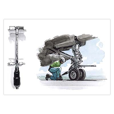 Illustration originale Titwane - Le Charles de Gaulle - Holdback