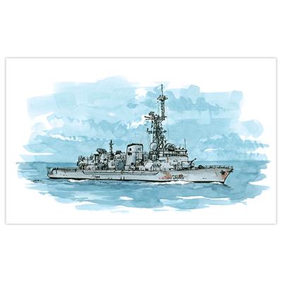 Illustration originale Titwane - Le Charles de Gaulle - Frégate