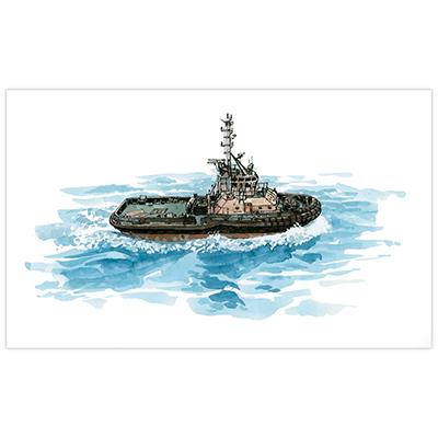 Illustration originale Titwane - Le Charles de Gaulle - Djibouti