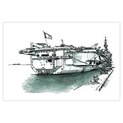 Illustration originale Titwane - Le Charles de Gaulle - Arrière quai