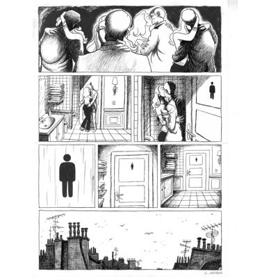 Planche originale - Pauvre Jean-Pierre - Tome 1 - Planche 56