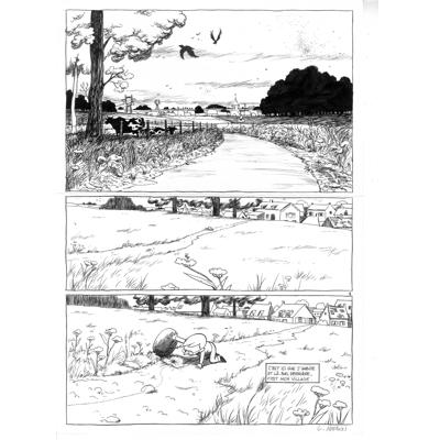 Planche originale - Pauvre Jean-Pierre - Tome 3 - Planche 1